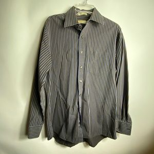 michael kors mens dress shirt Sz L Striped